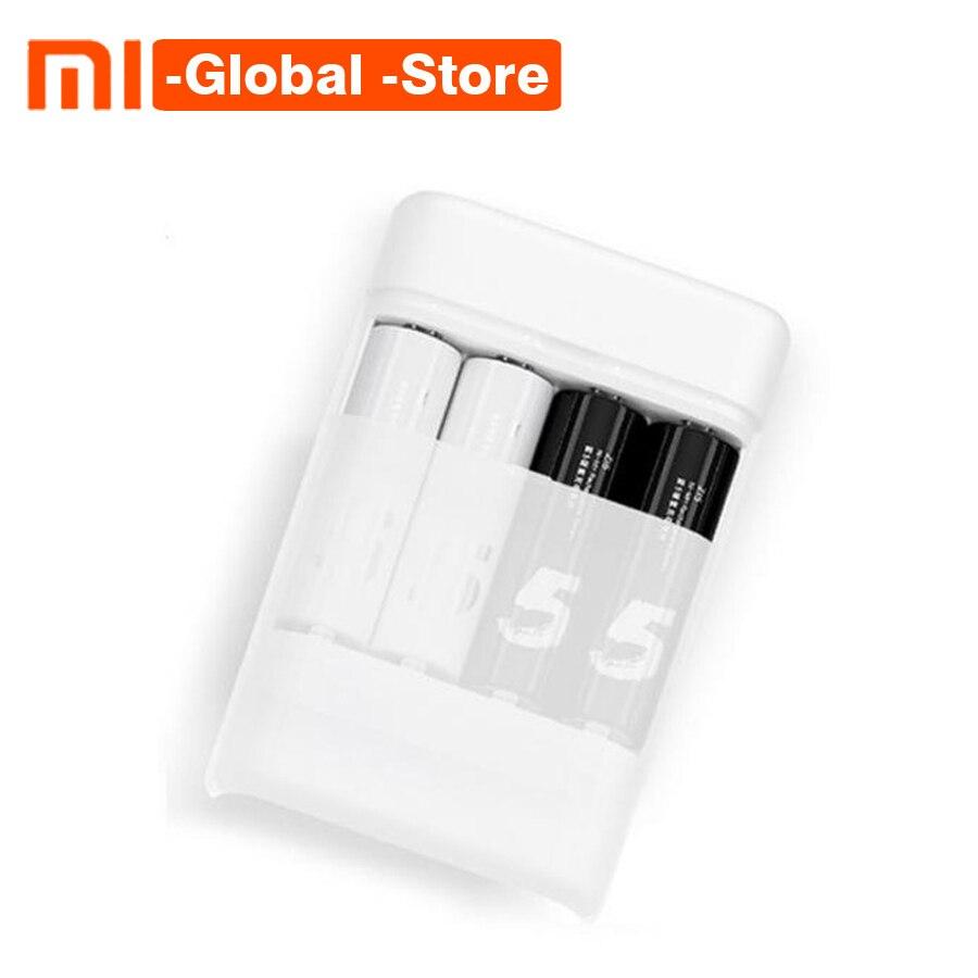 Nuevo Xiaomi ZMI ZI5/ZI7 AA/AAA batería de Ni-MH cargador multifunción cargador con 4 ranuras 1800 mAh portátil 1,2 V para teléfono inteligente