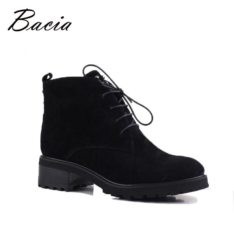 Bacia/Женская обувь из овечьей замши, теплые зимние сапоги с шерстяным мехом, женская обувь из натуральной кожи, ботильоны, Размеры 35-41, VE001