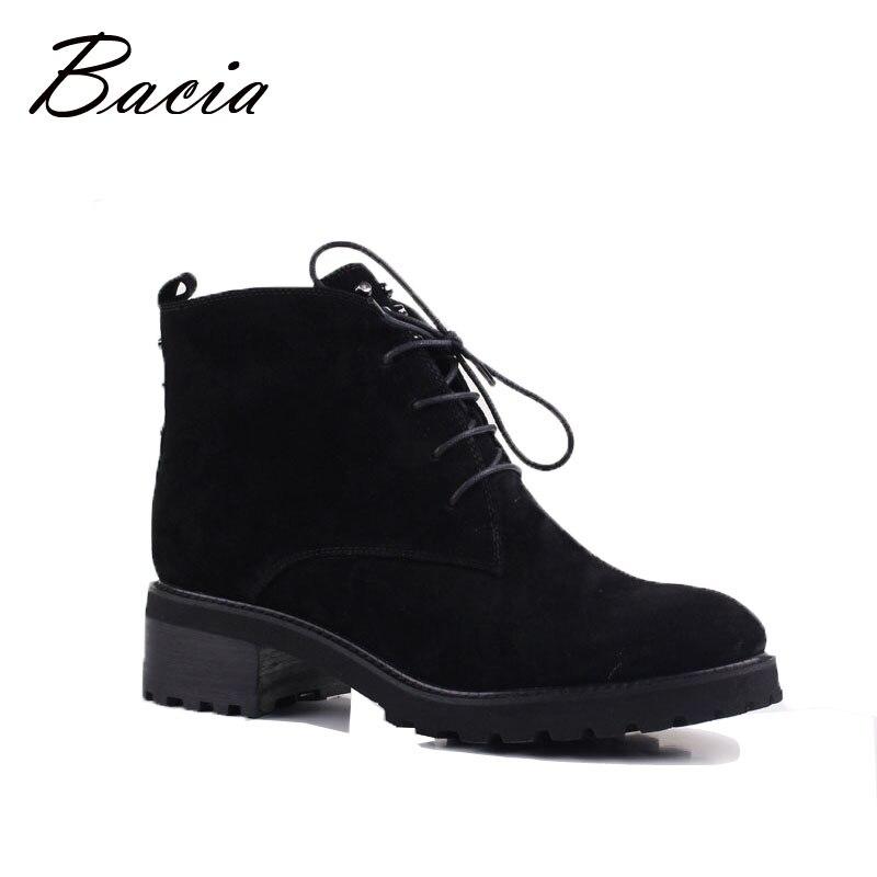 Bacia de ante de oveja zapatos de mujer Piel de lana caliente botas de invierno botas de mujer de cuero genuino calzado botas ruso tamaño 35- 41 VE001
