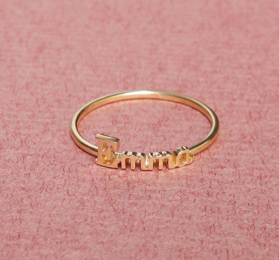 Custom Name Ring 925 Silver Ngagement Ring For Women Wedding Ring