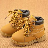 Hot Sale Childrens Snow Boots Warm Leather Botas Motorcycle Boys Girls Kids Plush Thick Cotton Shoes