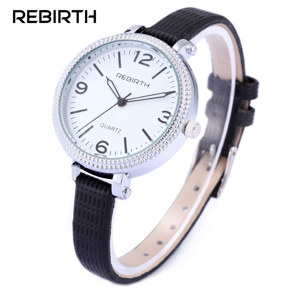 2017 REBIRTH Luxury Brand Watch Women Fashion Silver Ladies Watches Leather Quartz Watch Relogio Feminino Clock Relojes Mujer уроки выживания dvd