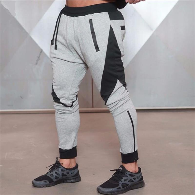 Running Gray Jogging Pants Striped Running Pants Men Sport Pencil Pants Men Cotton Soft Bodybuilding Joggers Gym Trousers Running Tights Sports & Entertainment