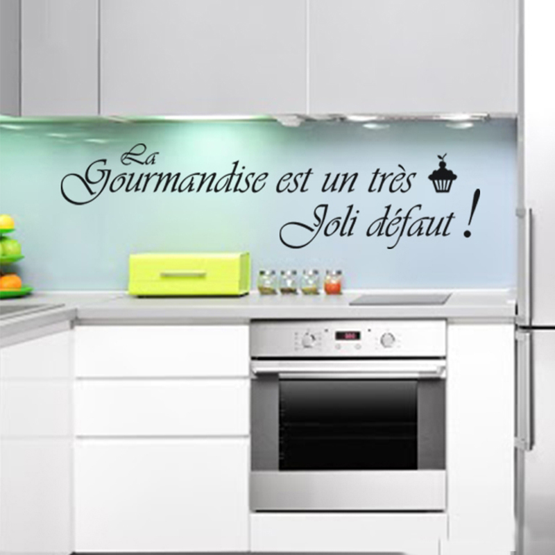 Cuisine française autocollants muraux en vinyle appliques murales papier peint art cuisine stickers papier peint décoration de la maison maison decorationDW0627