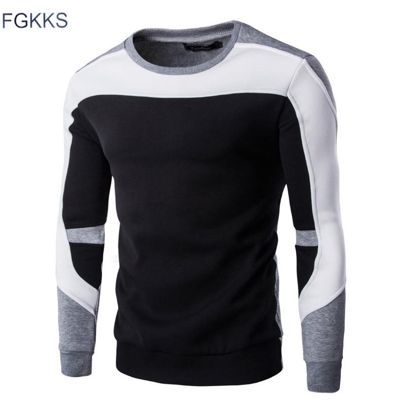 FGKKS  New Arrival Spring Hoodie Sweatshirt Men Fashion Quality Cotton Hoodies Men Casual Hoody Sweatshirts Male Size M-2XL