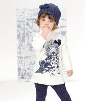 Retail fashion leopard girl spring and autumn long sleeved shirt + trousers two set free shipping (in stock)