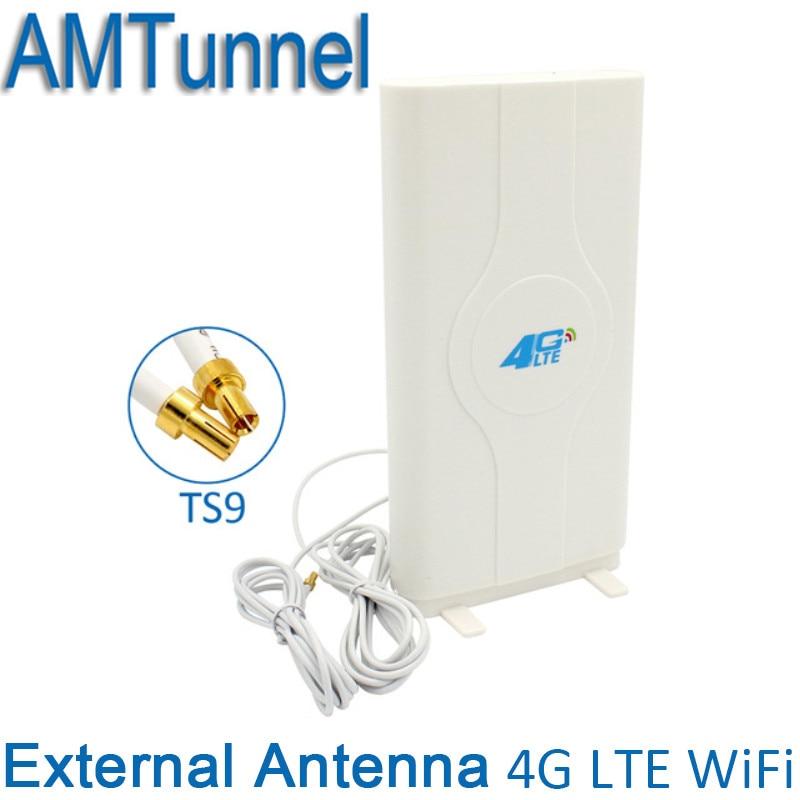 3g 4g LTE Externe Panel Antenne TS9/CRC9/SMA stecker router antenne 2 mt kabel 700-2600 mhz für 3g 4g Huawei router modem