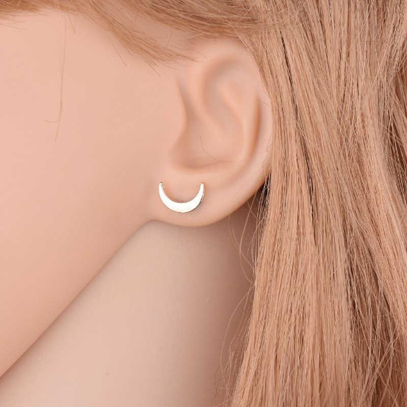 แฟชั่น 3 ชิ้น/เซ็ต Star Moon คู่ Shape Silver Black Gold Mini Stud ชุดต่างหูผู้หญิงเครื่องประดับหูหญิงของขวัญ