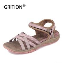 Grition女性サンダルファッション高品質夏の女性の靴屋外女性フラットカジュアルサンダル2020アンチスリップトレッキング靴