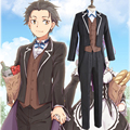Anime Re: Life in a Different World from Zero Natsuki Subaru Tuxedo Formal Dress Cosplay Costume Full Set Swallow-tailed Coat