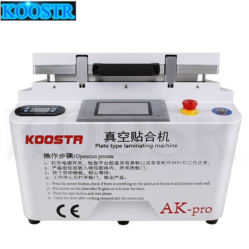 2 in1 AK PRO 12 inch Automatic LCD OCA Vacuum Laminating Machine Bubble Remover Can do