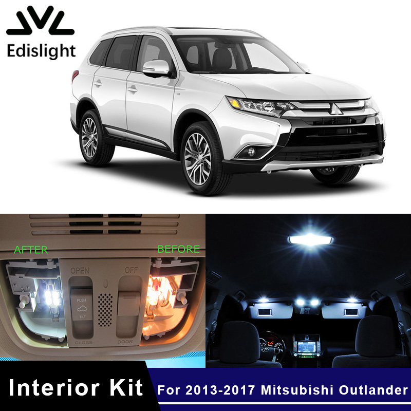 Mitsubishi Outlander Consumer Reviews: Edislight 11Pcs White LED Lamp Car Bulbs Interior Package