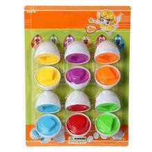 Сопряжение умных яиц Цветные Игрушки для распознавания цветов Набор яиц для массажа гашапон умное яйцо дошкольные головоломки игрушки обучающая игрушка 6 шт