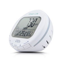 Digital CO2 Detector Air Quality Monitor Carbon Dioxide Sensor Temperature Humidity Gas Analyzer LCD Display Alarm