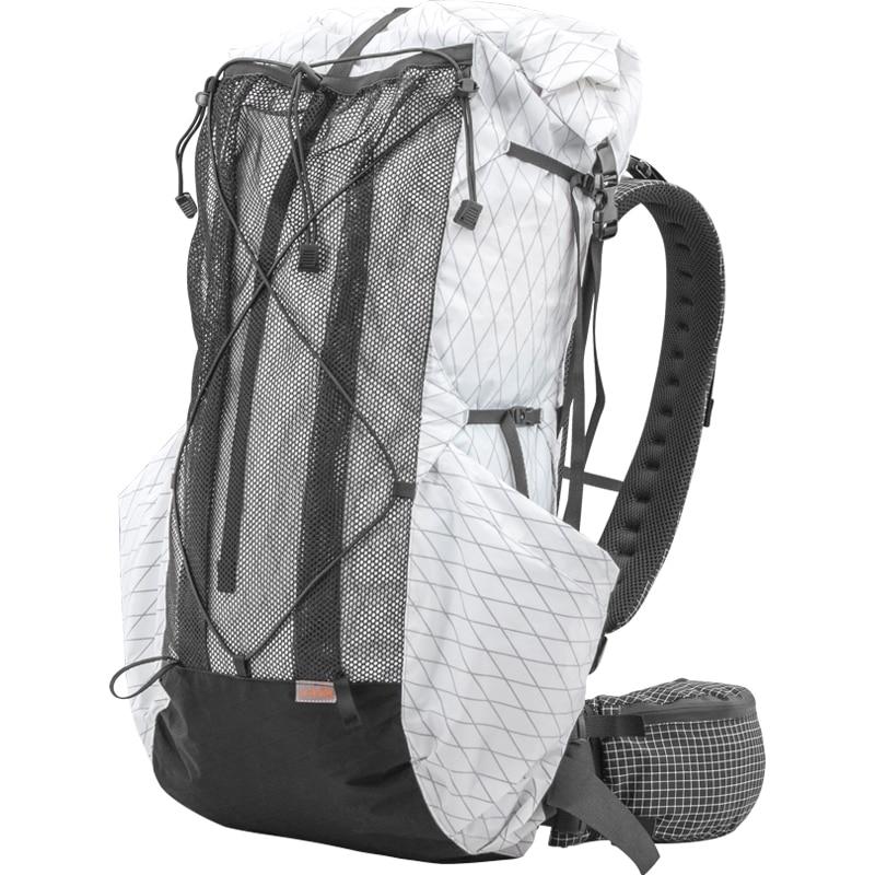 35L-45L ligero Durable viaje Camping senderismo mochila exterior ultraligero paquetes sin marco XPAC y UHMWPE 3F UL engranaje
