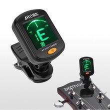 цены на AROMA AT-01A Guitar Tuner Rotatable Clip-on Tuner LCD Display for Chromatic Acoustic Guitar Bass Ukulele  в интернет-магазинах