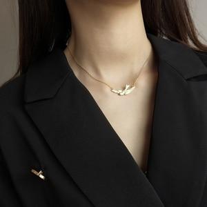 Image 5 - Louleur 925 Sterling Zilveren Gratis Fly Vogels Hanger Ketting Goud Originele Ontwerp Chic Elegante Ketting Voor Vrouwen Fijne Sieraden