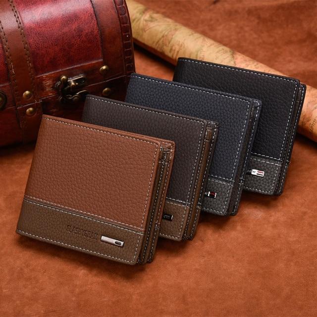 Portefeuille Homme Avec Porte Monnaie Marron 5