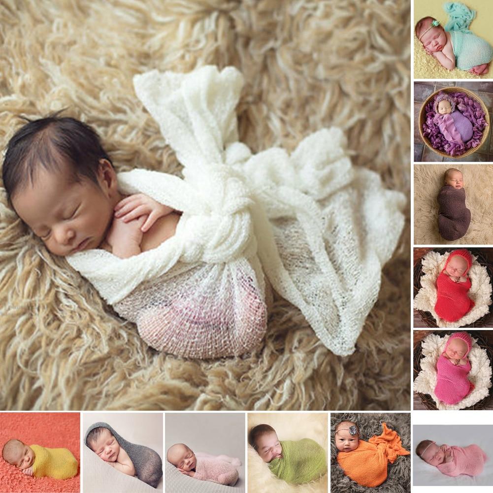 12 Colorsnewborn Baby Fotografie Requisiten Baumwolle Weiche Foto Wrap Tuch Fotografie Achtergronden Für Infant Photoes Accessoire