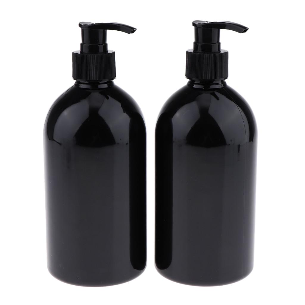 Premium 2 Pieces Plastic Bottle Refill Container Pump Dispenser Leak-proof Travel Handy Beauty Tools Kits 500ml