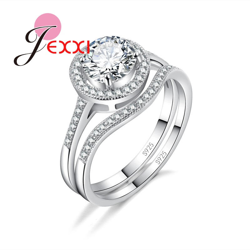 Simple Silver Wedding Rings For Women JEXXI Simple 925 Sterl...