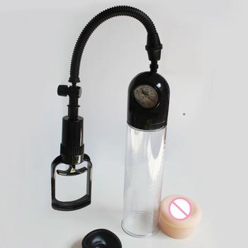 Pompy próżniowe pompy próżniowe do powiększania penisa z manometrem Proextender urządzenie do powiększania wzmocnienie wyprostowany Assistor ssania próżniowego tanie i dobre opinie Pompy i powiększalniki 1 Set CloveUkiyoe ABS+TPR CU-0210