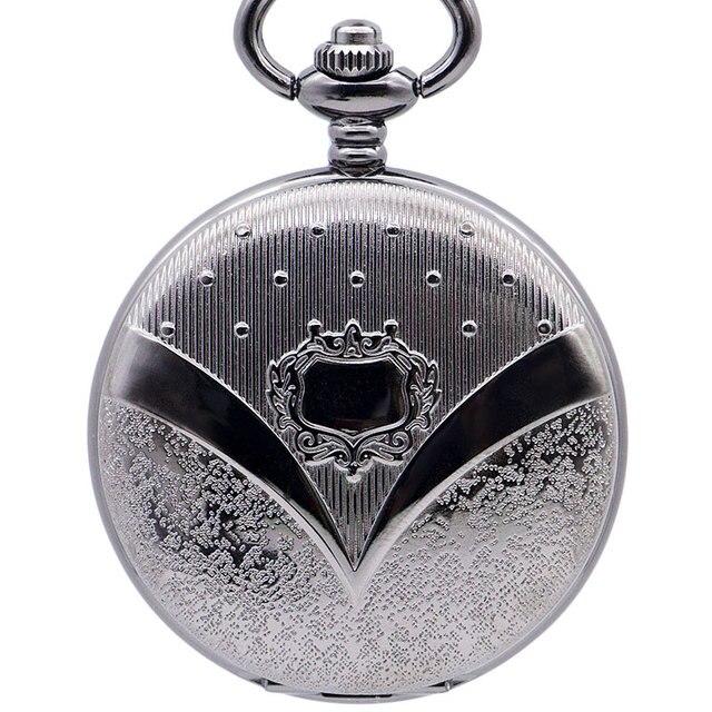 Blue Steampunk Skeleton Mechanical Pocket Watch Men Antique Luxury Brand Necklace Pocket & Fob Watches Chain Male Clock