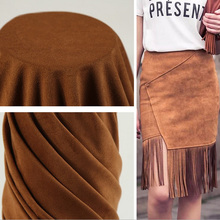 30 colors high quality  heavy weight warp knitted spandex stretch suede fabric