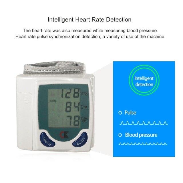 Home Automatic Wrist Digital Lcd Blood Pressure Monitor Portable Tonometer Meter For Blood Pressure Meter Oximetro De Dedo 2