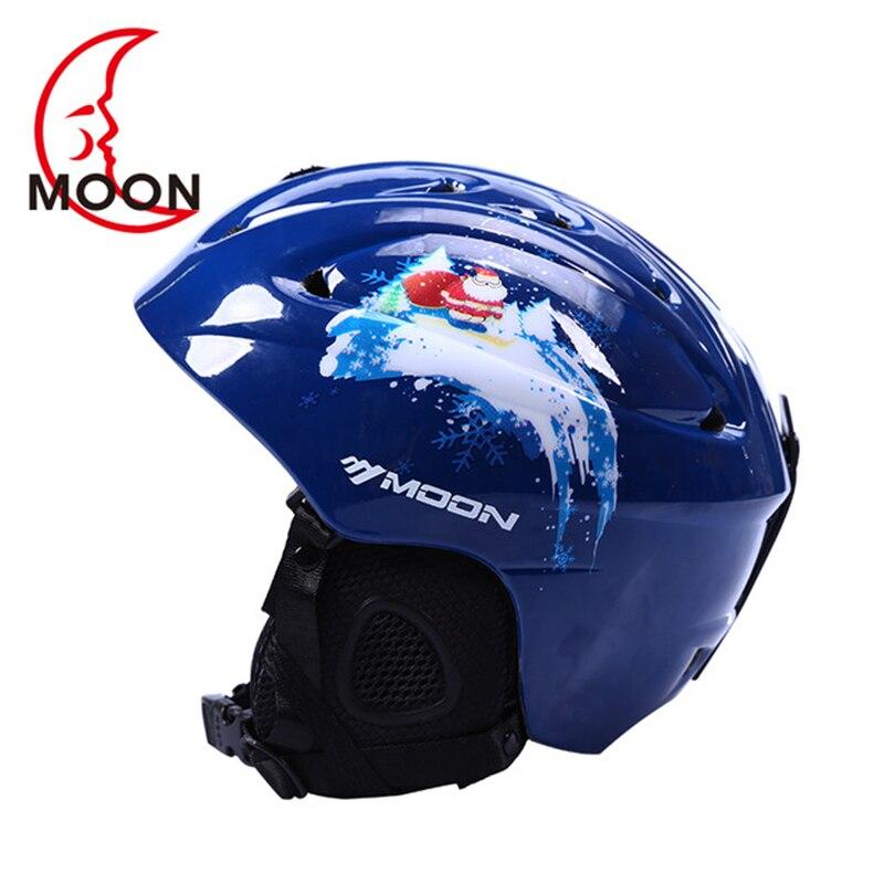 цена на Moon Ski Helmet Ultralight and Integrally-molded Professional Snowboard Helmet Men Skateboard Snow Helmet Multi Colors Kid