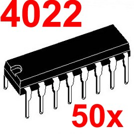 ( 50 pcslot ) 4022 CMOS Logic IC, DIP Package.