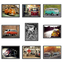 Volkswagen Car VW cars Poster VW Type Mini Bus poster wall stickers home decor car poster 42*30CM(China)