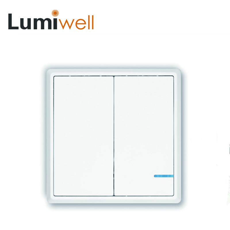 Lumiwell Wireless 2 way light switch home kit Outdoor Indoor white gold remote control switch pushbutton LED IP54 Dampproof