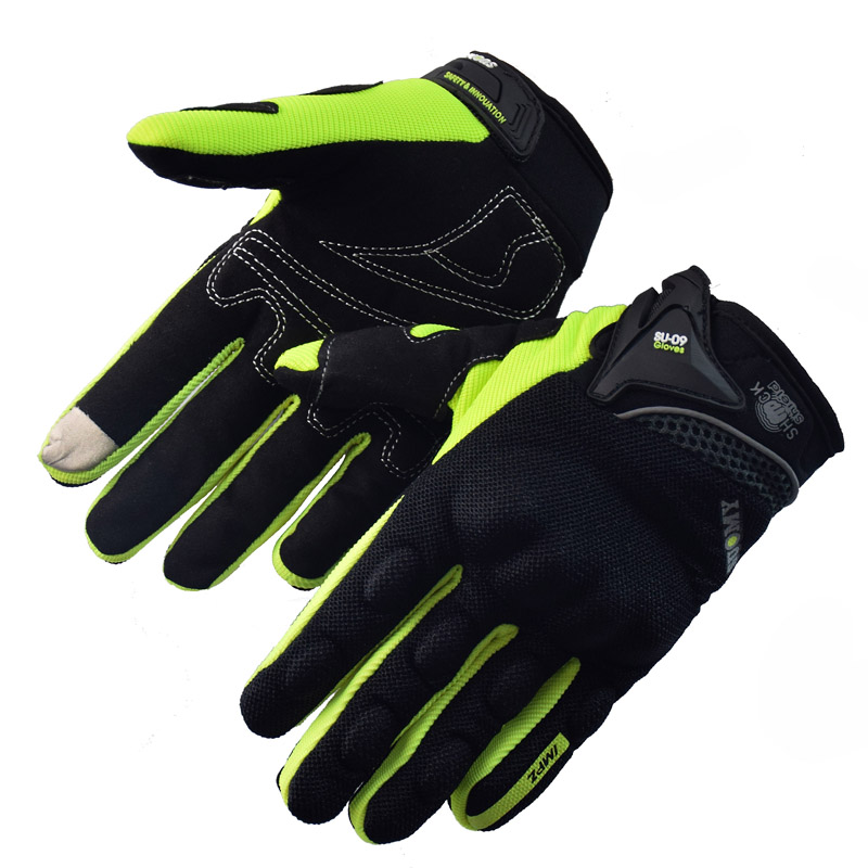 Black Motorcycle Gloves Summer Windproof Protective Gloves Screen Touch Guantes Moto Luvas Alpine Motocross Stars Protective