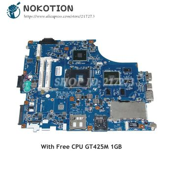 NOKOTION MBX-235 1P-0107200-8011 A1796418B MAIN BOARD For Sony VAIO VPCF Laptop Motherboard GT425M DDR3 HM55 Free CPU