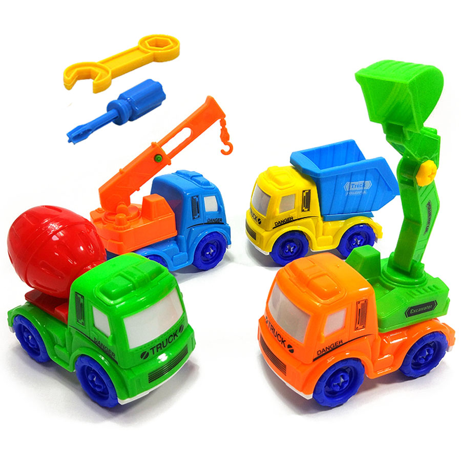 1Set Early Learning Education DIY Screw Nut Group Installed Plastic Building Block Disassembly Train Car Toys for Children стоимость
