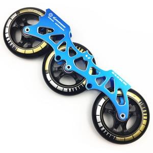 "Image 2 - מסגרת & 85A גלגלים ומסבים 3*100/110 מ""מ בסיס עבור Inline גלגיליות סלאלום שקופיות החלקה עבור ילדים למבוגרים גלגיליות אגן DJ49"