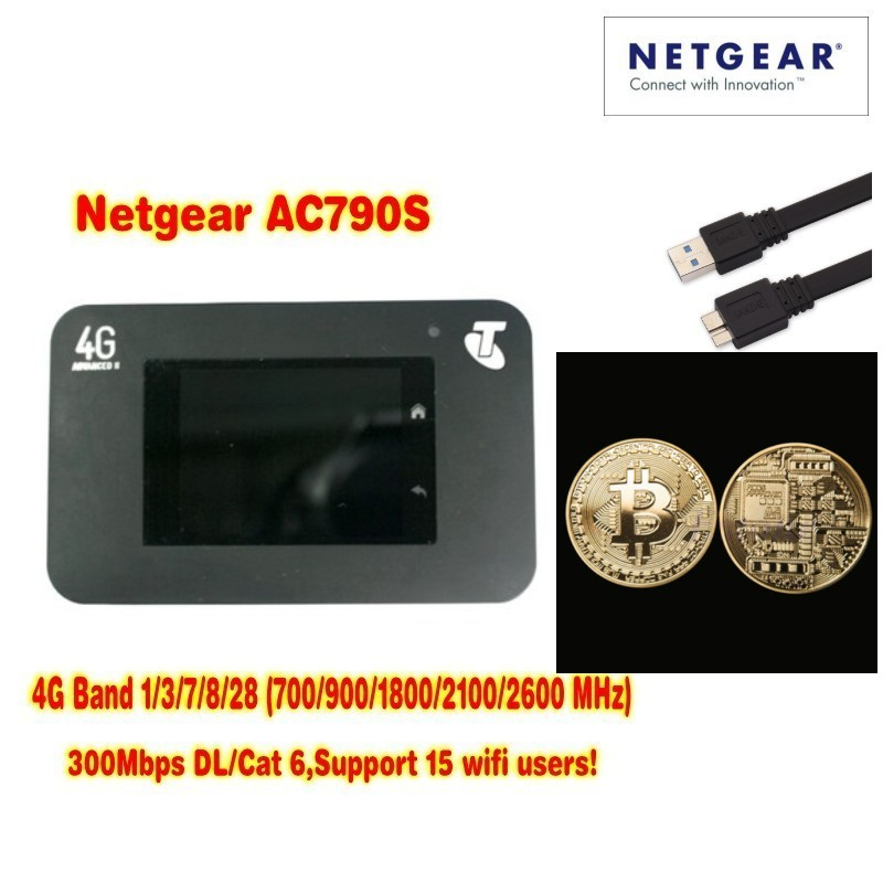 Unlocked Netgear Aircard 790s AC790S 300Mbps Mobile Hotspot wifi Router 4G + free Gift Commemorative coin unlocked aircard 760s sierra wireless router mobile hotspot 4g lte telstra logo