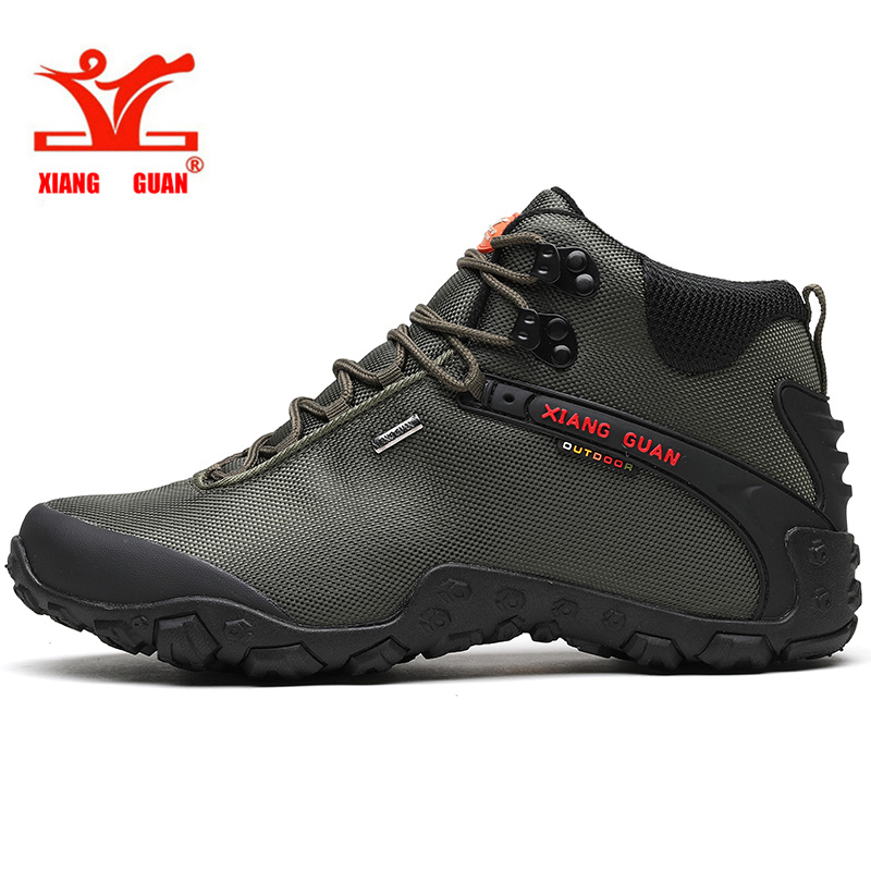 2017 xiang guan Man Outdoor Hiking <font><b>Shoes</b></font> Athletic Trekking Boots black breathable male Climbing Travel Walking Sneakers 36-48
