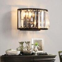 Lâmpadas de parede cristal moderna sala estar ao lado cabeceira cristal luz da parede luxo e14 vela lâmpada parede cristal|Luminárias de parede| |  -