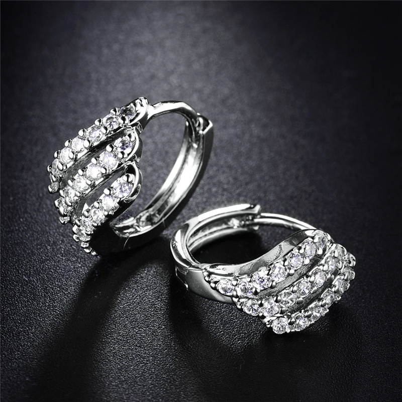 BUDONG Valentine's Day Gift Three Row Fashion Earing for Women - Fashion Jewelry - Photo 4