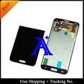 Envío gratis + 100% probado Original para Samsung Galaxy S5 G900 G900F LCD digitalizador asamblea + Sticker - blanco / negro