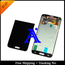 Free Shipping + 100% tested Original  For Samsung Galaxy S5 G900 G900F LCD  Digitizer Assembly   +Sticker – White/ Black