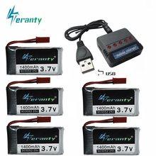 Lipo 3.7V 1400mAh Bateria e carregador para T64 T04 T05 F28 F29 T56 T57 HQ898B H11D H11C RC Quadcopter 1400mAh 903052 3.7V bateria