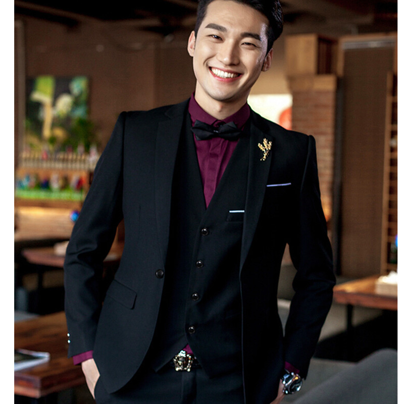 Wedding Tuxedos For Men 2016 Brand Elegant Vintage Suits Men Slim ...