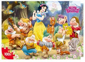 Image 5 - Disney Frozen Mickey Minnie Mouse Sofia Mermaid Duck Puzzle 100 Pieces Learning Educational Interesting Wooden Toys For Children