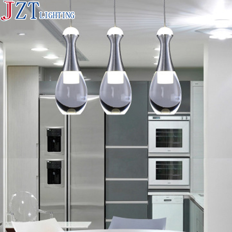 M Best Price Senior Living Room Lamp 3 6 Head Round Square Base LED Pendant Light Stainless Steel Wire Drawing Shade