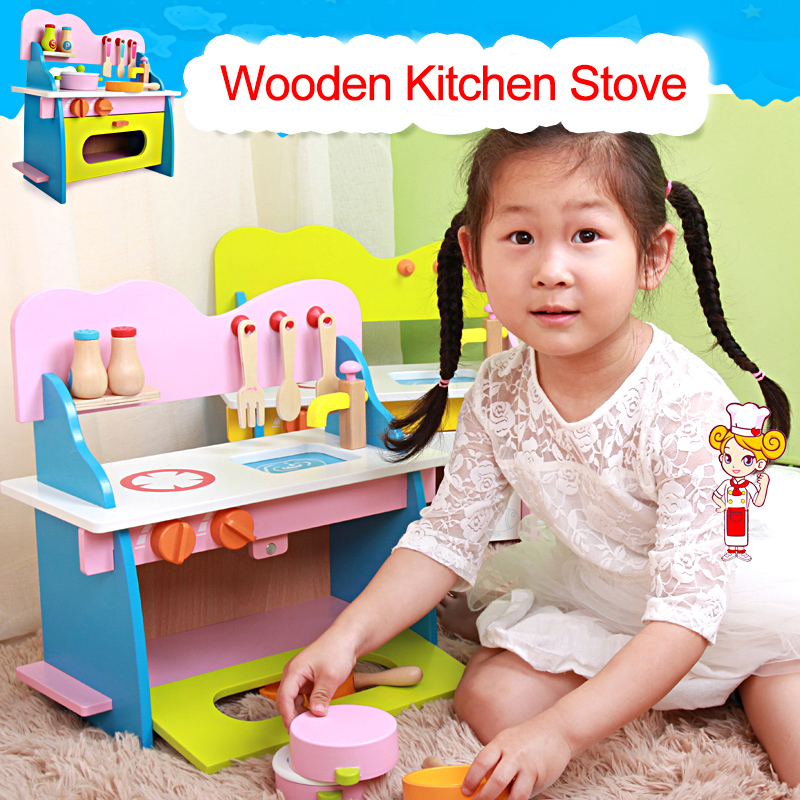 baby toys kid cooking set wooden kitchen toy for children wo