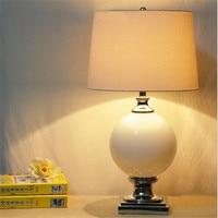 Modern Fashion Chinese Handmade Black White Glass Fabric Led E27 Table Lamp For Wedding Decor Bedroom