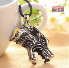1pc Hot Fashion Trendy Brave Man Wolf Head Necklace Titanium Steel Domineering Pendant Jewelry